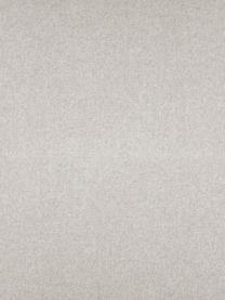Divano 3 posti in tessuto beige Fluente, Rivestimento: 80% poliestere, 20% ramiè, Struttura: legno di pino massiccio, Piedini: metallo verniciato a polv, Tessuto beige, Larg. 196 x Prof. 85 cm
