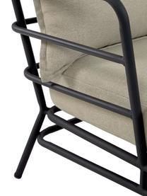 Garten-Loungesofa Mareluz (3-Sitzer), Gestell: Metall, verzinkt und lack, Beige, B 197 x T 75 cm
