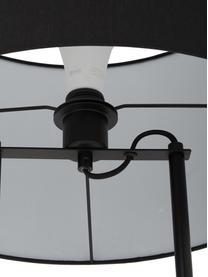Lampada da terra con base in cemento Pipero, Paralume: tessuto, Base della lampada: cemento, Struttura: metallo verniciato a polv, Paralume: nero Base della lampada: nero opaco, grigio Cavo: nero, Ø 45 x Alt. 161 cm