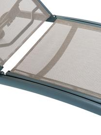 Leżak ogrodowy na kółkach Sun, Stelaż: aluminium lakierowane, Szary, S 188 x G 64 cm