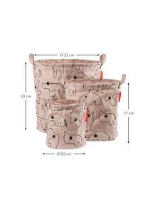Aufbewahrungskörbe-Set Contour, 3-tlg., 65% Baumwolle, 35% Polyester, PU-beschichtet Öko-Tex zertifiziert, Rosa, Set mit verschiedenen Größen