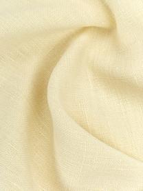 Leinen-Kissenhülle Luana in Hellgelb mit Fransen, 100% Leinen, Gelb, 40 x 40 cm