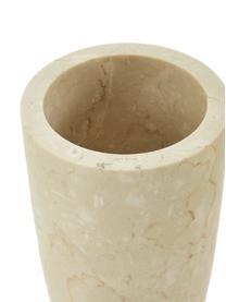 Marmor-Toilettenbürste Luxor, Gefäß: Marmor, Griff: Rostfreier Stahl, Beige, Stahl, Ø 11 x H 36 cm
