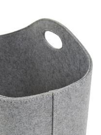 Cesto Mascha, Feltro in materiale sintetico riciclato, Grigio, Lung. 45 x Larg. 30 cm