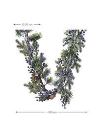 Tannengirlande Patrick L 180 cm, Kunststoff, Grün, Blau, Braun, Ø 20 x L 180 cm