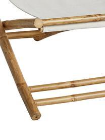 Klappbarer Bambus-Liegestuhl Mandisa, Gestell: Bambus, Gestell: Bambus<br>Bespannung: Offwhite, 112 x 80 cm