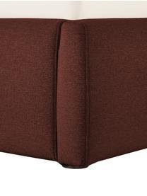 Łóżko tapicerowane Cloud, Korpus: lite drewno sosnowe, mate, Tapicerka: tkanina o drobnej struktu, Ciemny czerwony, S 180 x D 200 cm