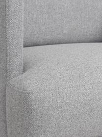 Fauteuil moderne gris clair Fluente, Tissu gris clair