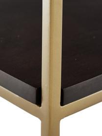 Consolle in legno massiccio Lyle, Struttura: metallo verniciato a polv, Legno di mango scuro, verniciato, Larg. 105 x Alt. 89 cm