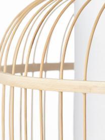 Pendelleuchte Bones aus Bambus, Lampenschirm: Bambus, Baldachin: Metall, beschichtet, Hellbraun, Weiß, Ø 40 x H 30 cm