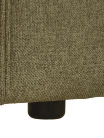 Poltrona in tessuto verde Lennon, Rivestimento: 100% poliestere Con 35.00, Struttura: legno di pino massiccio, , Piedini: plastica I piedini si tro, Tessuto verde, Larg. 130 x Prof. 101 cm