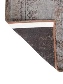 Dywan szenilowy vintage Medaillon, Szary, brązowy, S 80 x D 150 cm (Rozmiar XS)