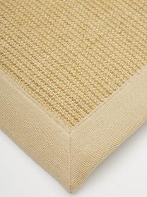 Tappeto in sisal fatto a mano Nala, Bordo: cotone, Beige, Larg. 200 x Lung. 300 cm (taglia L)