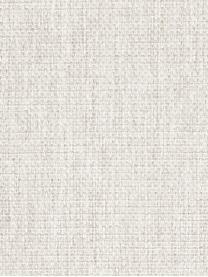 Bank Emma (2-zits) in crèmewit met metalen poten, Bekleding: polyester, Frame: massief grenenhout, Poten: gepoedercoat metaal, Geweven stof crèmewit, poten zwart, B 194 x D 100 cm