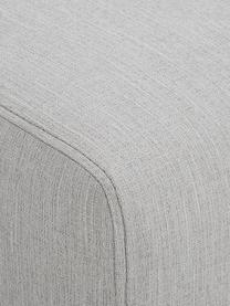Bank Carrie (3-zits), Bekleding: polyester, Frame: spaanplaat, hardboard, mu, Poten: gelakt metaal, Geweven stof grijs, B 202 x D 86 cm