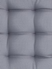 Zweifarbig gewebtes Outdoor-Sitzkissen St. Maxime, Anthrazit, Schwarz, 38 x 38 cm