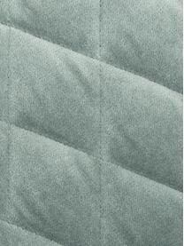 Wattierte Samt-Kissenhülle Cosima in Salbeigrün, Salbeigrün, 50 x 50 cm
