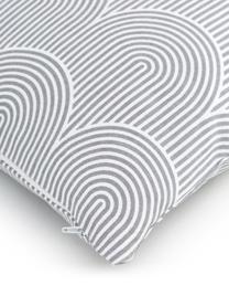 Kissenhülle Arc in Hellgrau/Weiß, 100% Baumwolle, Grau, 45 x 45 cm