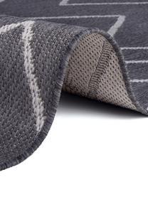 In- & Outdoor-Teppich Waves mit Zick-Zack-Muster, 100% Polypropylen, Dunkelgrau, Grau, B 160 x L 230 cm (Größe M)