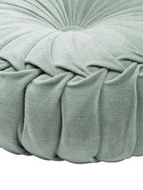 Poduszka okrągła z aksamitu z wkładem Kanan, 100% aksamit bawełniany, Miętowy, Ø 40 cm
