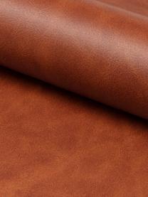 Kunstleder-Bürodrehstuhl Batilda, höhenverstellbar, Bezug: Kunstleder, Beine: Metall, pulverbeschichtet, Rollen: Kunststoff, Cognac, Schwarz, B 54 x T 48 cm