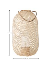 Lanterna in juta Musu, Manico: juta, Beige, Ø 35 x Alt. 60 cm