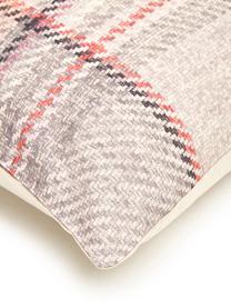Karierte Flanell-Bettwäsche Beau in Rosa, Webart: Flanell Fadendichte 144 T, Creme, Grau, Rosa, 155 x 220 cm + 1 Kissen 80 x 80 cm