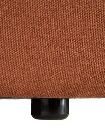 Modulaire bank Lennon (3-zits) in terracotta, Bekleding: polyester De hoogwaardige, Frame: massief grenenhout, multi, Poten: kunststof, Geweven stof terracottakleurig, B 238 x D 119 cm