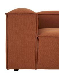 Modulares Sofa Lennon (3-Sitzer) in Terrakotta, Bezug: Polyester Der hochwertige, Gestell: Massives Kiefernholz, Spe, Füße: Kunststoff Die Füße befin, Webstoff Terrakotta, B 238 x T 119 cm
