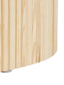 Houten salontafel Nele met opbergruimte, MDF met essenhoutfineer, Essenhoutfineer, Ø 70 x H 36 cm