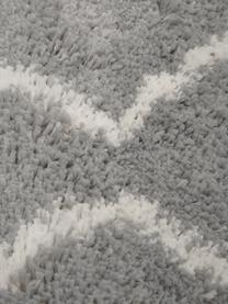 Hochflor-Teppich Velma in Grau/Cremeweiß, Flor: 100% Polypropylen, Grau, Cremeweiß, B 300 x L 400 cm (Größe XL)