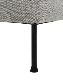 Ecksofa Cucita (3-Sitzer) in Hellgrau mit Metall-Füßen, Bezug: Webstoff (Polyester) Der , Gestell: Massives Kiefernholz, Füße: Metall, lackiert, Webstoff Hellgrau, B 262 x T 163 cm