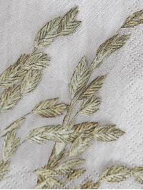 Papieren servetten Grass, 40 stuks, Papier, Lichtgrijs, groen, 20 x 20 cm