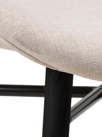 Gestoffeerde stoelen Batilda in beige, 2 stuks, Bekleding: 100% polyester, Poten: rubberhout, gecoat, Geweven stof beige, zwart, 47 x 53 cm