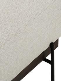 Sofa-Hocker Brooks in Beige mit Metall-Füßen, Bezug: Polyester 35.000 Scheuert, Gestell: Kiefernholz, massiv, Rahmen: Kiefernholz, lackiert, Füße: Metall, pulverbeschichtet, Webstoff Beige, 80 x 43 cm