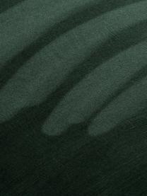 Samt-Polsterstühle Lucie, 2 Stück, Bezug: Samt (Polyester), Füße: Metall in Walnussholz-Opt, Samt Dunkelgrün, B 49 x T 57 cm