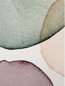 Federa arredo Calma con stampa geometrica in ottica acquerello, Poliestere, Bianco, verde, lilla, salmone, Larg. 40 x Lung. 40 cm