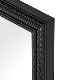 Eckiger Wandspiegel Paris mit schwarzem Kunststoffrahmen, Rahmen: Polyurethan, Rückseite: Mitteldichte Holzfaserpla, Spiegelfläche: Spiegelglas, Rahmen: Schwarz<br>Spiegelfläche: Spiegelglas, 52 x 62 cm