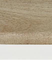 Tavolo con piano in legno massello Raw, Piano d'appoggio: legno di mango massello, , Struttura: metallo verniciato a polv, Piano d'appoggio: legno di mango con tacche struttura: bianco opaco, Larg. 180 x Prof. 90 cm
