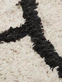 Teppich Face mit abstrakter Zeichnung, Beige, Schwarz, B 90 x L 150 cm (Größe XS)