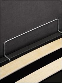 Łóżko tapicerowane z miejscem do przechowywania Cloud, Korpus: lite drewno sosnowe, pane, Tapicerka: tkanina o drobnej struktu, Szary, S 180 x D 200 cm