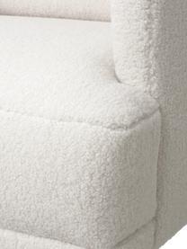 Canapé 2places peluche blanc crème Fluente, Tissu blanc crème