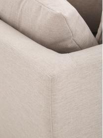 Grote hoekbank Zach in beige, Bekleding: polypropyleen, Poten: kunststof, Geweven stof beige, B 300 x D 213 cm