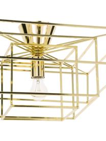 Plafonnier en métal doré Cube, Couleur dorée