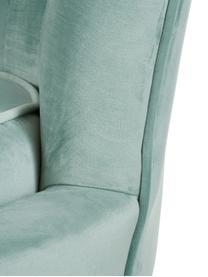 Samt-Sofa Oyster (2-Sitzer) in Türkis mit Metall-Füßen, Bezug: Samt (Polyester) 20.000 S, Gestell: Massives Pappelholz, Sper, Füße: Metall, galvanisiert, Samt Türkis, B 131 x T 78 cm