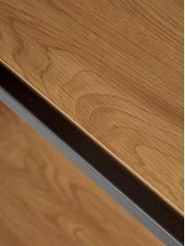 Hohes Standregal Seaford aus Holz und Metall, Einlegeböden: Mitteldichte Holzfaserpla, Gestell: Metall, pulverbeschichtet, Einlegeböden: Wildeiche Gestell: Schwarz, 77 x 185 cm
