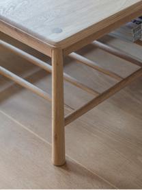 Couchtisch Wycombe aus Eichenholz, Massives Eichenholz, Mitteldichte Holzfaserplatte (MDF) mit Eichenholzfurnier, Eichenholz, 120 x 43 cm