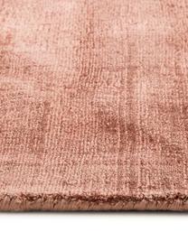 Ręcznie tkany dywan z wiskozy Jane Diamond, Terakota, S 160 x D 230 cm