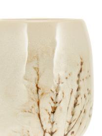 Grand tasse faite main à motif herbe Bea, Beige, multicolore