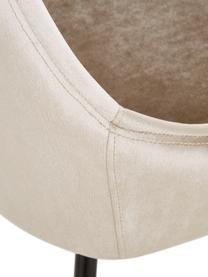 Chaises en velours East Side, 2 pièces, Revêtement: couleur champagne Pieds: noir, mat